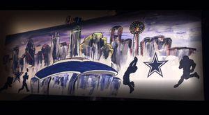 Dallas Skyline /Stadium original Painting for Sale in Dallas, TX