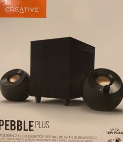 Brand New Pebble Plus 2.1 USB Desktop Speakers With Subwoofer for Sale in Fremont,  CA