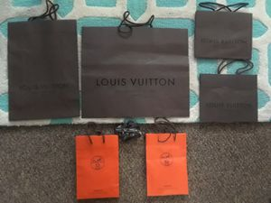 Authentic 4 Louis Vuitton bags and 2 Hermes bags with Ribbons for Sale in Clinton Township, MI