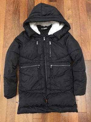 Steve Madden black utility parka puffer coat hood women's XS EUC for Sale in Bothell, WA