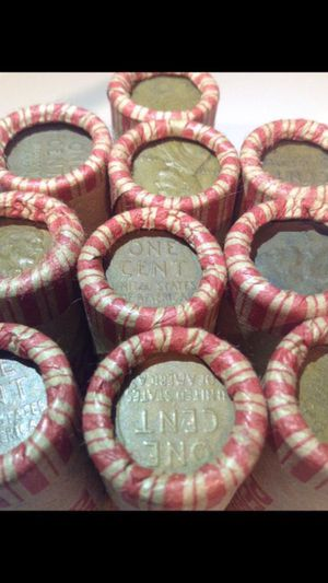 10 Rolls of Unsearched 1909-1956 Wheat Pennies- Grandfathers Collection of 500 Coins Total- VDB/Rare Dates/Error Coins Possible for Sale in Reston, VA