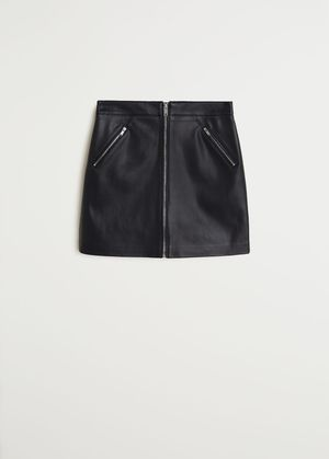 Women's NEW Black Faux Leather Zip Mini Skirt for Sale in Los Angeles, CA