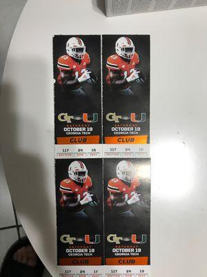 Miami Hurricanes Tickets for Sale in Miami, FL