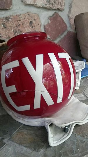 Antique ruby red exit glass globe for Sale in Penndel, PA