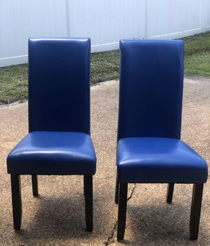 2 Blue Dining Chairs for Sale in Orlando, FL