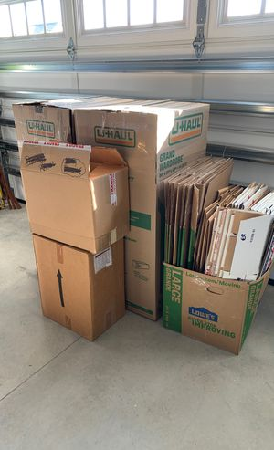 Moving boxes and wardrobe boxes for Sale in Moyock, NC
