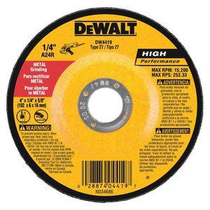 DEWALT 4 in. x 1/4 in. x 5/8 in. General Purpose Metal Grinding Wheel for Sale in Lawrence Township, NJ