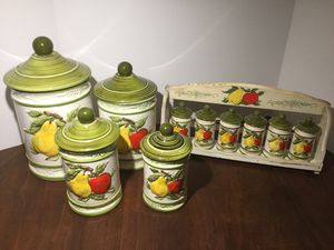 RETRO 1970's CANISTER AND MATCHING SPICE SET for Sale in Ocoee, FL