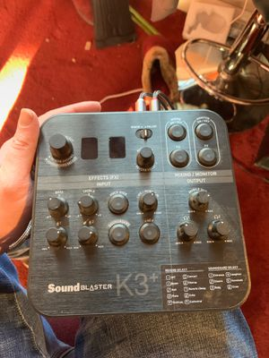 Sound Blaster K3+ Digital Mixer for Sale in Lowell, MA