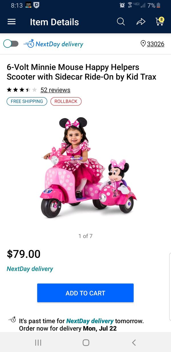Minnie mouse ride on
