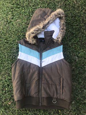 Ladies XL Light Weight Puffer Vest w/ Faux Fur Hood for Sale in Fullerton, CA