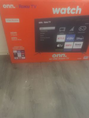 "Onn 50"" inch roku smart tv 4K uhd 300$ brand new in box for Sale in Columbus, OH"