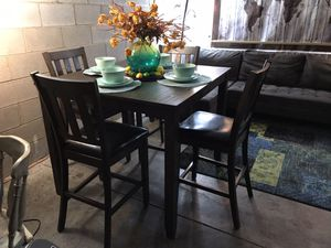 Nice Greyish/Brownish Pub style kitchen table set😍No Holds-No Deliver-Serious buyers Only for Sale in Raleigh, NC