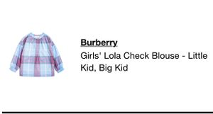 Burberry kids blouse for Sale in Fairfax, VA