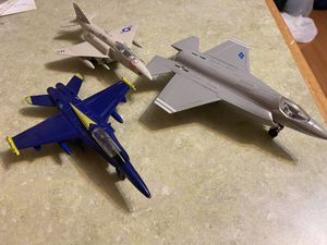 Three metal diecast Navy fighter jets toys for Sale in Crownsville, MD
