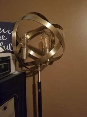 New floor lamp with Edison bulbs for Sale in Pulaski, TN