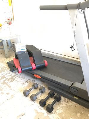 Treadmill, stepper, 1 set of weights, blood pressure monitor for Sale in Virginia Beach, VA