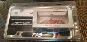Porsche 718 Boxter License Plate Frame for Sale in Sacramento, CA