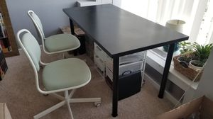 IKEA black desk / table in great condition, easily disassembled for Sale in Washington, DC