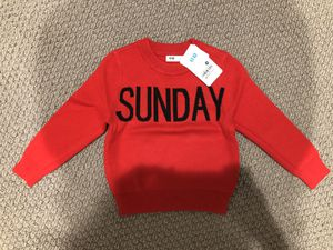 Toddler Red Sunday Sweater size 12-24 months for Sale in Los Angeles, CA
