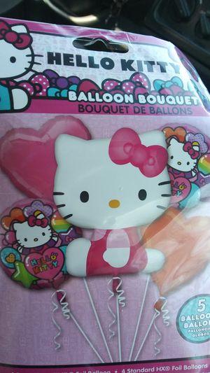 Hello Kitty 5 piece super shape balloon bouquet brand new $10 for Sale in Norfolk, VA