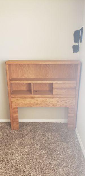 FREE Oak platform bed frame/headboard TWIN for Sale in Hesperia, CA
