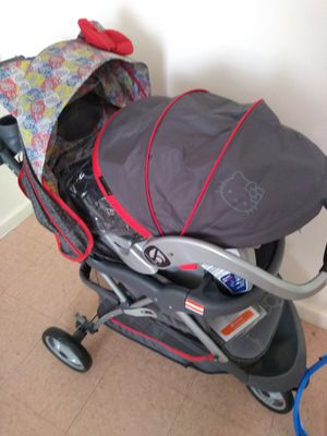 Brand new hello kitty stroller /w carseat for Sale in The Bronx, NY