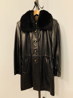 Women's Leather Trench Jacket, Size: Large for Sale in Franconia, VA
