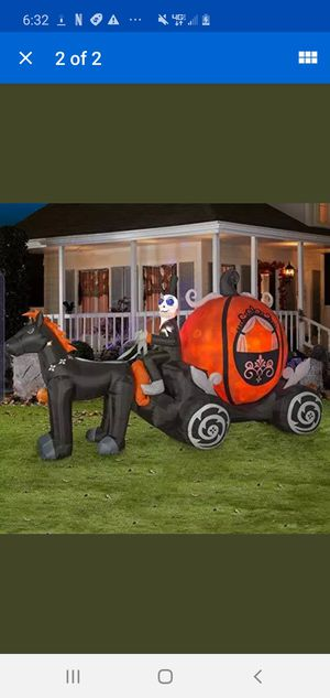 Haunted inflatable pumpkin stagecoach for Sale in Bothell, WA
