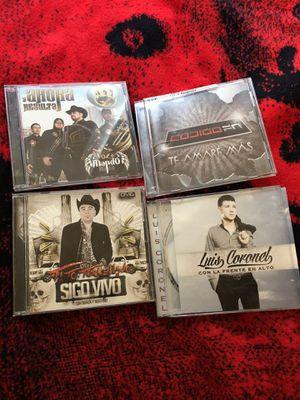 Corrido originales y más cds aparte de los 4 for Sale in Anaheim, CA