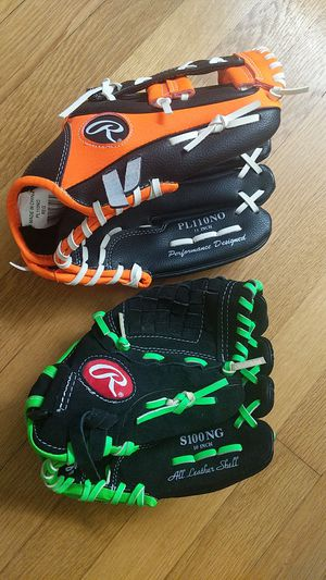 "Two RAWLINGS Youth Ages 7-9 Baseball Gloves 10"" and 11"" for Sale in Portland, OR"
