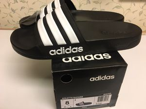 Adidas men slides size 8 for Sale in SEATTLE, WA