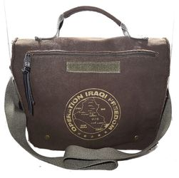 Operation Iraqi Freedom Messenger Bag Adjustable Military US Allegiance for Sale in Austin,  TX