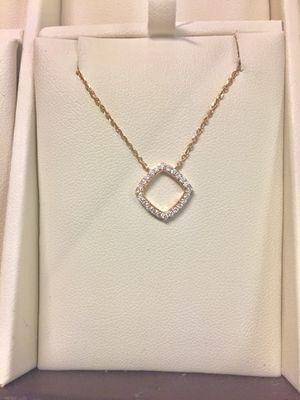 Rose Gold Diamond Pendant in 14kt for Sale in Annandale, VA