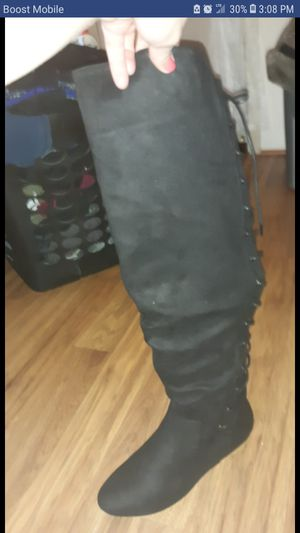 Justfab black thigh high boots for Sale in Salt Lake City, UT