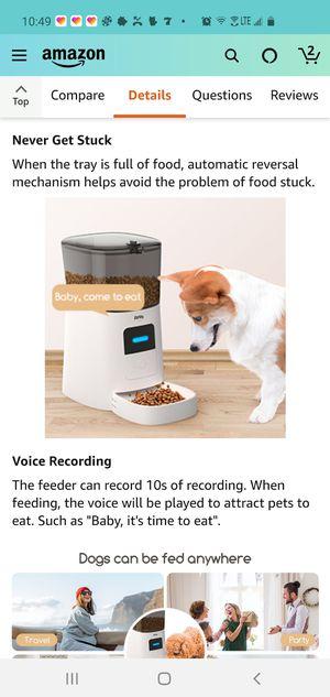 Wifi pet feeder (Faroro PF50) for Sale in Ontario, CA