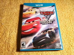 CARS 3 DRIVEN TO WIN WII U GAME COMPLETE for Sale in Missouri City, TX
