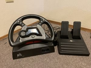 Nintendo 64 , n64 steering wheel and pedals (madcatz ) comes with original box ! Compatible with Mario kart , diddy Kong , starfox 64 , and many more for Sale in Kennewick, WA