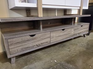 TV Stand up to 85in TVs, Distressed Grey for Sale in Fountain Valley, CA