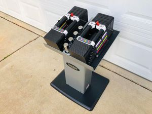 PowerBlock Adjustable Dumbbells - Weights - Bowflex - Gym Equipment - Fitness - Work Out for Sale in Downers Grove, IL