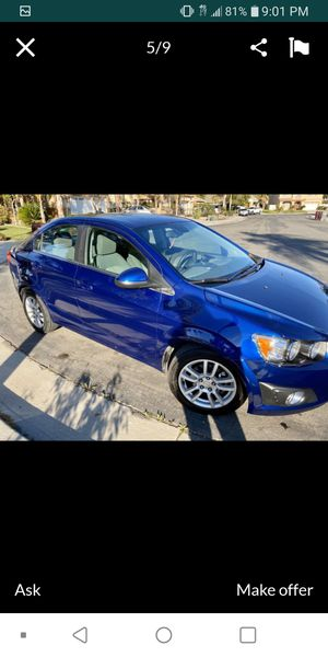 2012 chevy sonic 1.8 LT automatic for Sale in Moreno Valley, CA