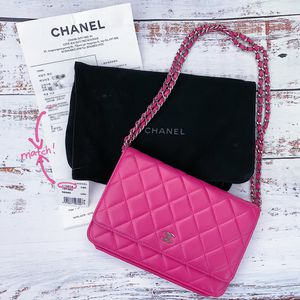 Chanel WOC Wallet On Chain Lambskin Cross Body Bag Pink for Sale in Los Angeles, CA