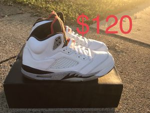 "Nike Air Jordan Retro 5 "" White Cement "" Great Condition OG All Size Men's 11.5 for Sale in Richardson, TX"