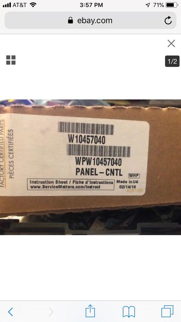 Control Panel WPW10457040