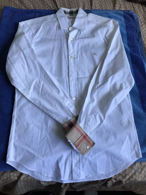 Mens White Burberry Button Up Shirt for Sale in San Diego, CA