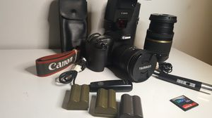 Canon EOS 30D DSLR camera with lenses and accessories for Sale in Issaquah, WA
