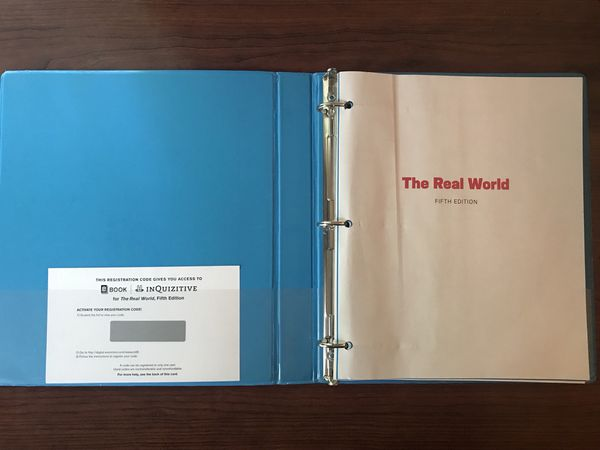 The Real World An Introduction To Sociology College Textbook ( With Online Access Code)