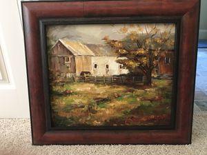 """Beautiful Autumn Barn original Oil Painting 28x32"""" for Sale in Atlanta, GA"""