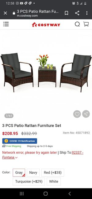 New Piece Patio Furniture Set for Sale in Norwalk, CA