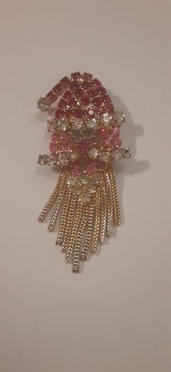 Vintage Santa claus Hobe rhinestone brooch for Sale in Round Rock,  TX